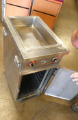 MOBILE Hot Well Heated Cabinet Warming Steam