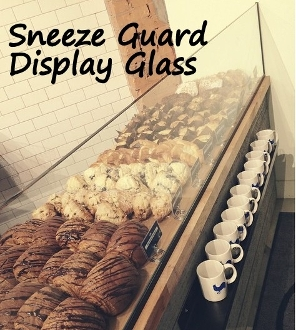 Salvaged Sneeze Guard Glass