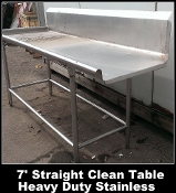 Stock Photo - Left Side Clean Table