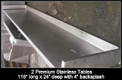 "116"" HD Stainless Table"