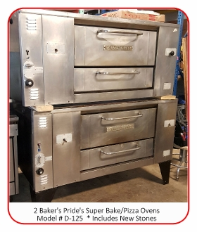 "Pizza Bake Ovens - 66""  Double"