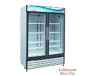 New 2 Glass Door Refrigerator $169/mo