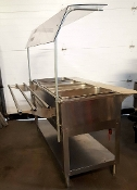 Steam Table with Tray Rail & Sneeze Guard GAS